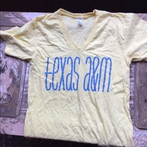 Tops - Texas A&M Yellow Graphic Tee